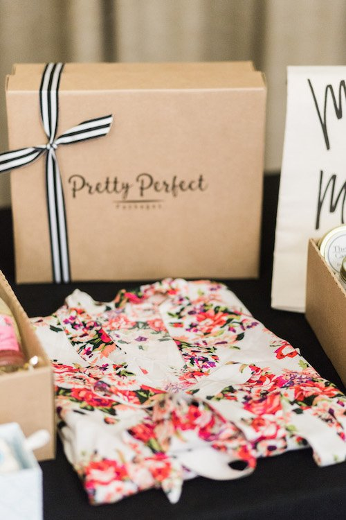 Create custom gift boxes, ready to deliver to your bridesmaids and groomsmen! They have perfected the art of gift giving. They items included are original and thoughtful, plus it's conveniently wrapped up in a pretty little box. - Pretty Perfect Packages, Each & Every Detail, Wedding Planner, McKinney, Texas