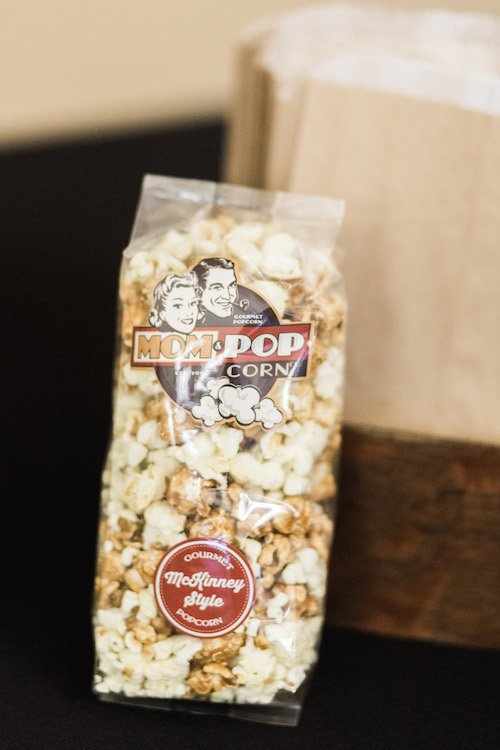 Find the biggest variety of flavored popcorn whether it be savory or sweet. Your wedding guests can be greeted with a welcome bag with a delicious snack! Plus they have quite the selection of candy for those of you that want to treat your guests to a candy bar at your reception. - Mom and Popcorn, Each & Every Detail, Wedding Planner, McKinney, Texas