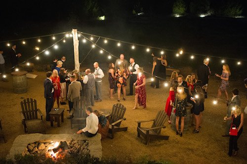 After the ceremony, the party was on!  With dinner and dancing, guests enjoyed the fun musical talents of In10City band. They also checked out the fabulous firepit and game area Stone Crest has hidden below the ceremony site.