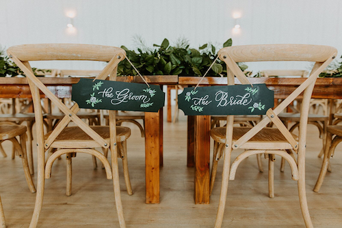 Did I mention the beautiful signage written by the bride? Lauren was able to apply her calligraphy talent (Velvet Paperie) to her wedding signage. - Wedding Calligraphy - Lettering - Wedding Planner - Each & Every Detail - Bride and Groom