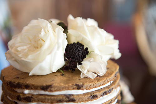 It's your big day. If cake isn't your go-to dessert, then find a way to incorporate your favorite sweet treat. In this case the bride was all about chocolate chip cookies, so she got a multi-tiered cookie cake! How fun is that!