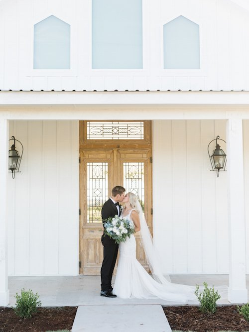 Those chapel doors were such a great entrance and we loved how the ceremony was decorated simply with greenery. - Open Air Chapel - Outdoor Ceremony - The Grand Ivory - McKinney, Texas - Wedding Planner - Each & Every Detail