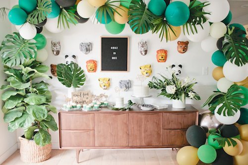 When portraying a theme in a kid's party, you get to go all out! Safari theme - get a tiger cake, wear animal costumes, and do a petting zoo to incorporate actual animals! This is why Pinterest is a thing, be extra with executing this theme! Sky is the limit! - Kid's Birthday Party - Safari Theme - Event Planner
