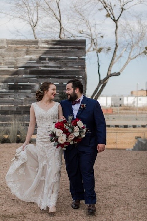 Natalie and Stephen's wedding was super fun to design and plan, because it reflected on them as a couple so well!  Fun-loving, go with the flow, and eclectic, the couple brought together guests from all over the country for an unexpectedly chilly night of revelry. - Burgundy Navy Gold - Brik Venue - Dallas Wedding - Dallas Wedding Planner - Each & Every Detail