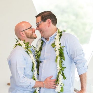 Real Wedding: Tropical, Colorful Same Sex Surprise Wedding in Dallas