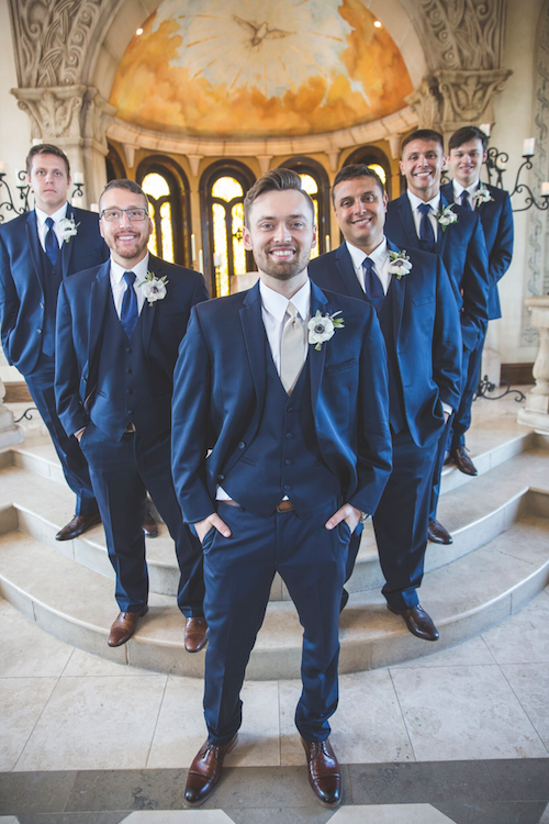This is a pretty simple look, but you can't help but look at this groom and think about how sharp he looks. The navy and brown are a great combo and he rocks it! - Groom's Attire - Groom Look - McKinney Texas - McKinney Wedding Planner - Each & Every Detail