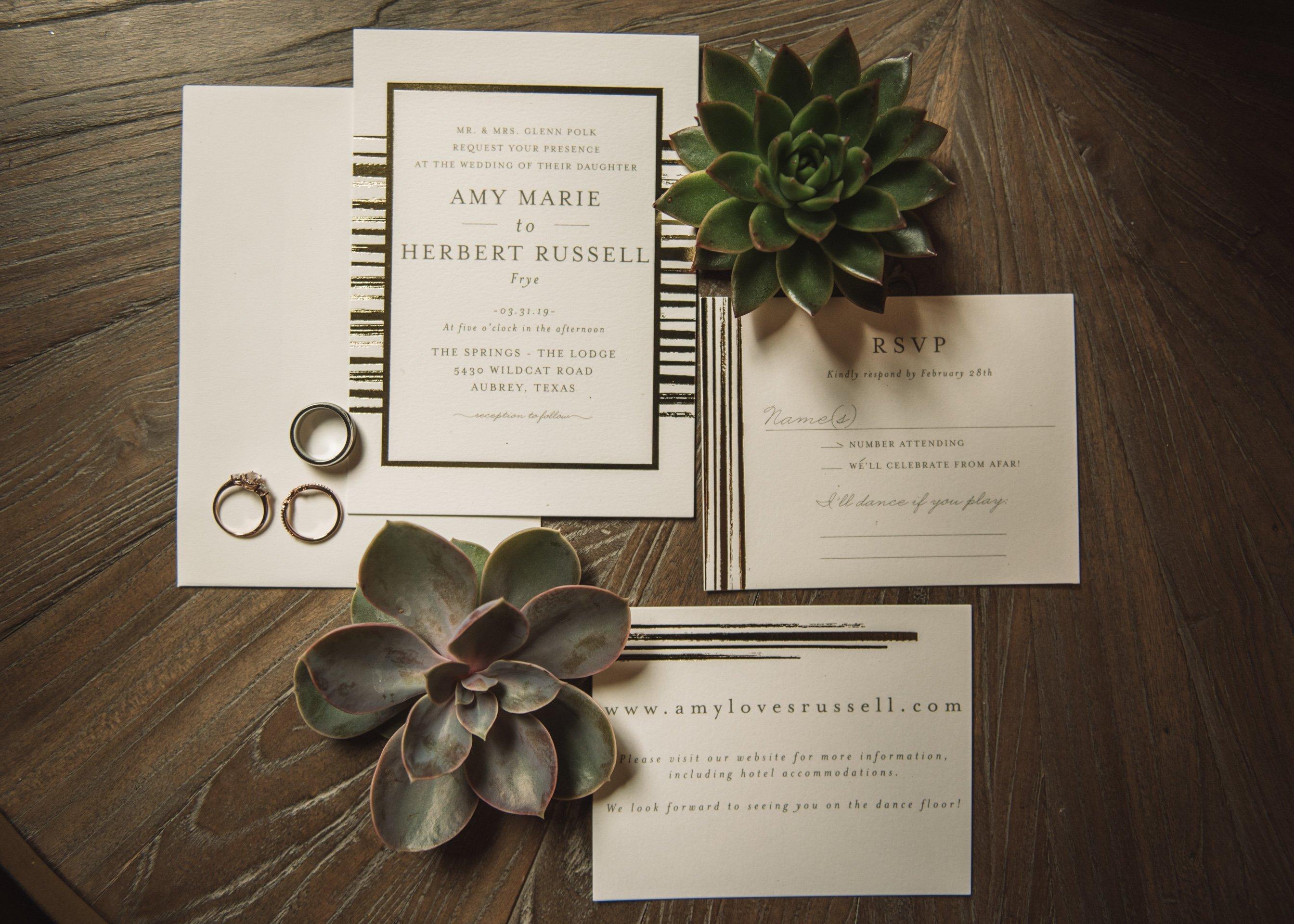 Polk Wedding - Miranda Marrs Photo - Invitations
