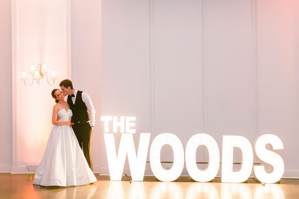 Winkler Wedding - Brad & Monica Wedding Films - MArquee Sign