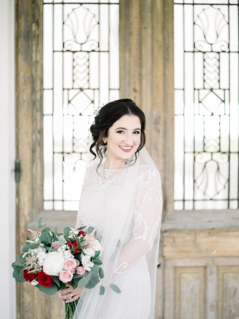McKinney, Texas - Texas Outdoor Wedding - Each & Every Detail - Mauve & Burgundy Wedding - Lush Greenery Wedding - Bridal Portrait - Wedding Makeup