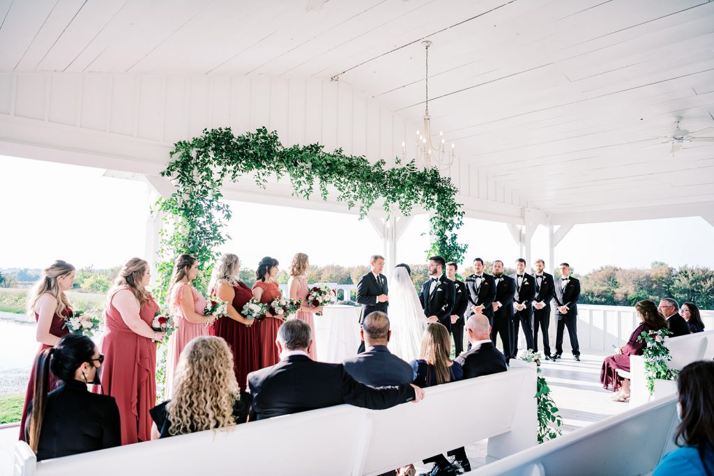 McKinney, Texas - Texas Outdoor Wedding - Each & Every Detail - Mauve & Burgundy Wedding - Lush Greenery Wedding - Wedding Ceremony - Open Air Chapel - The grand ivory
