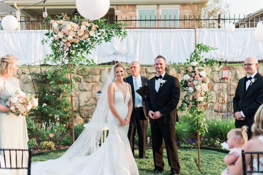 Matt and Julie Weddings - Outdoor Ceremony Wedding Photo - Bride & Groom - Intimate Wedding - Small Wedding - Romantic Wedding Photos