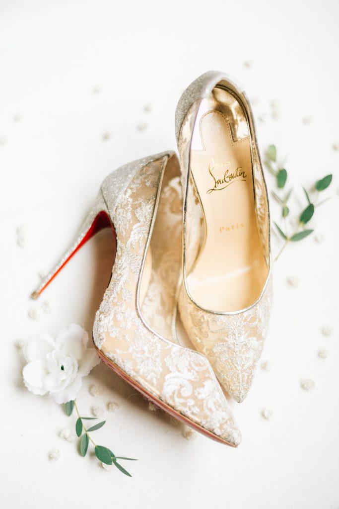 Ivory & Gold Wedding - Outdoor Tent Wedding - McKinney, Texas, Elegant Wedding Invitation - Wedding Louboutin Shoes - Bridal Shoes - Wedding Shoes