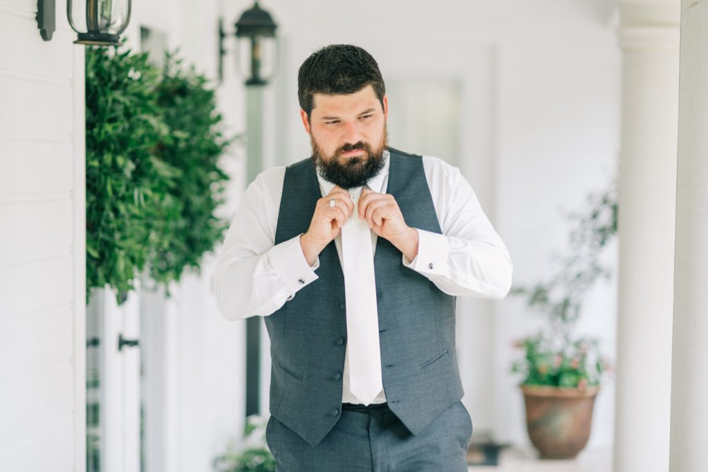 Ivory & Gold Wedding - Outdoor Tent Wedding - McKinney, Texas, Elegant Outdoor Wedding Reception - Country Wedding - Getting Ready for Wedding- Groom Look