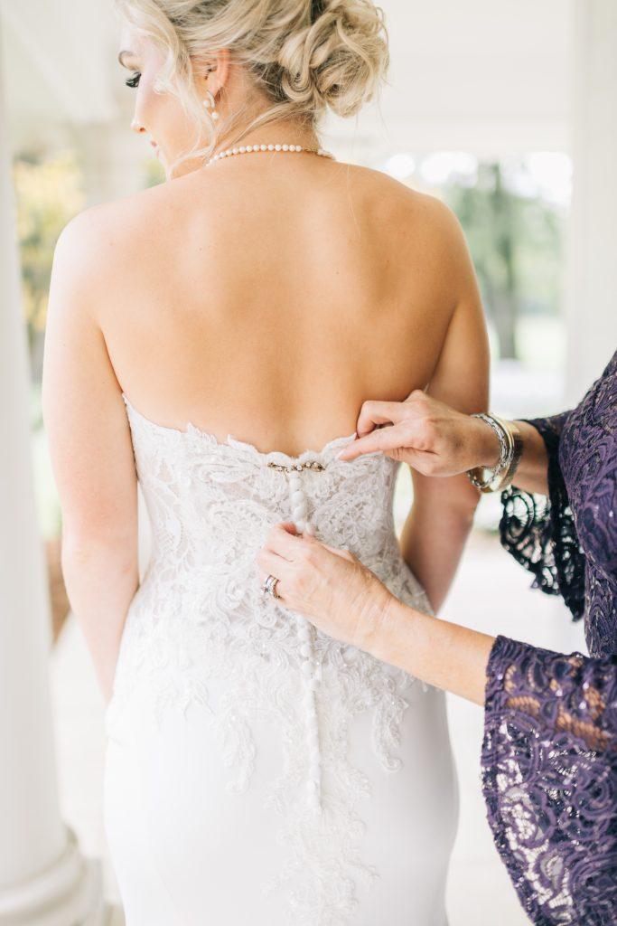 Ivory & Gold Wedding - Outdoor Tent Wedding - McKinney, Texas, Elegant Outdoor Wedding Reception - Country Wedding - Getting Ready for Wedding