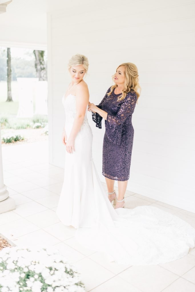 Ivory & Gold Wedding - Outdoor Tent Wedding - McKinney, Texas, Elegant Outdoor Wedding Reception - Country Wedding - Getting Ready for Wedding- Mother of the Bride