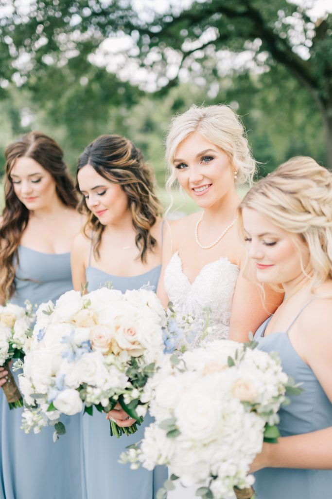 Ivory & Gold Wedding - Outdoor Tent Wedding - McKinney, Texas, Elegant Outdoor Wedding Reception - Country Wedding - Getting Ready for Wedding- Bridesmaids - Formal Wedding Photos - Each & Every Detail