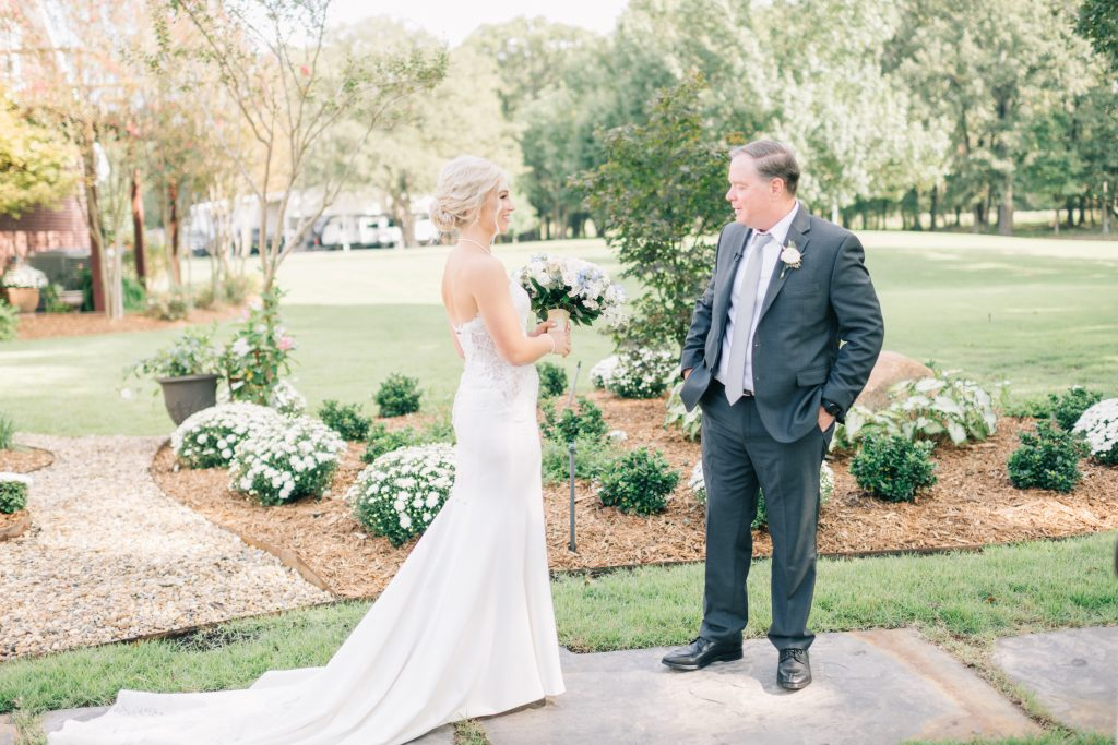 Ivory & Gold Wedding - Outdoor Tent Wedding - McKinney, Texas, Elegant Outdoor Wedding Reception - Country Wedding - Getting Ready for Wedding - Father of the Bride First Look - Each & Every Detail