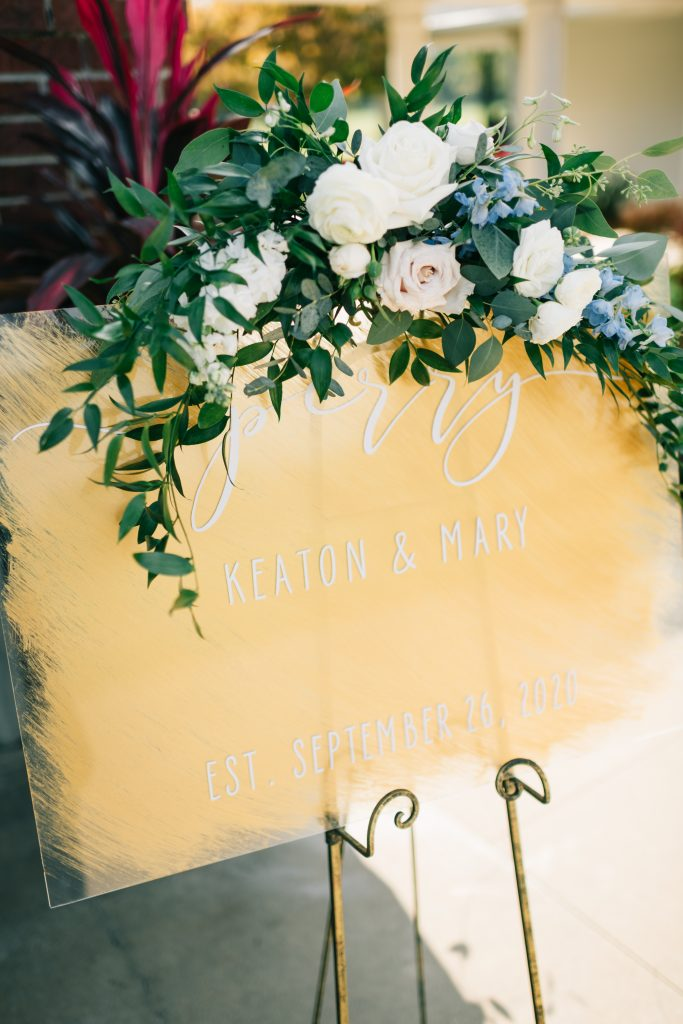 Ivory & Gold Wedding - Outdoor Tent Wedding - McKinney, Texas, Elegant Outdoor Wedding Ceremony - Wedding Ceremony Sign - Each & Every Detail