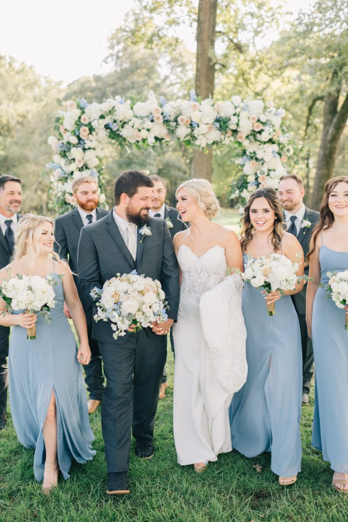 Ivory & Gold Wedding - Outdoor Tent Wedding - McKinney, Texas, Elegant Outdoor Wedding Ceremony - Bridal Party - Each & Every Detail