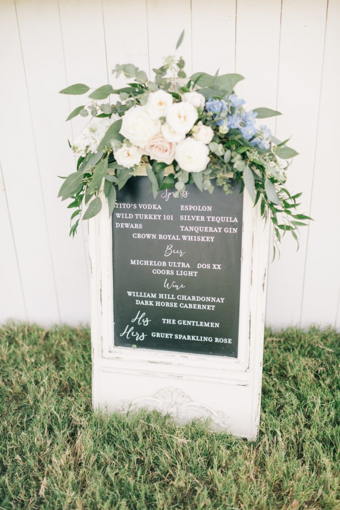 Ivory & Gold Wedding - Outdoor Tent Wedding - McKinney, Texas, Elegant Outdoor Wedding Reception - Wedding Reception Decor - Wedding Table Decor -Wedding Bar Sign - Each & Every Detail