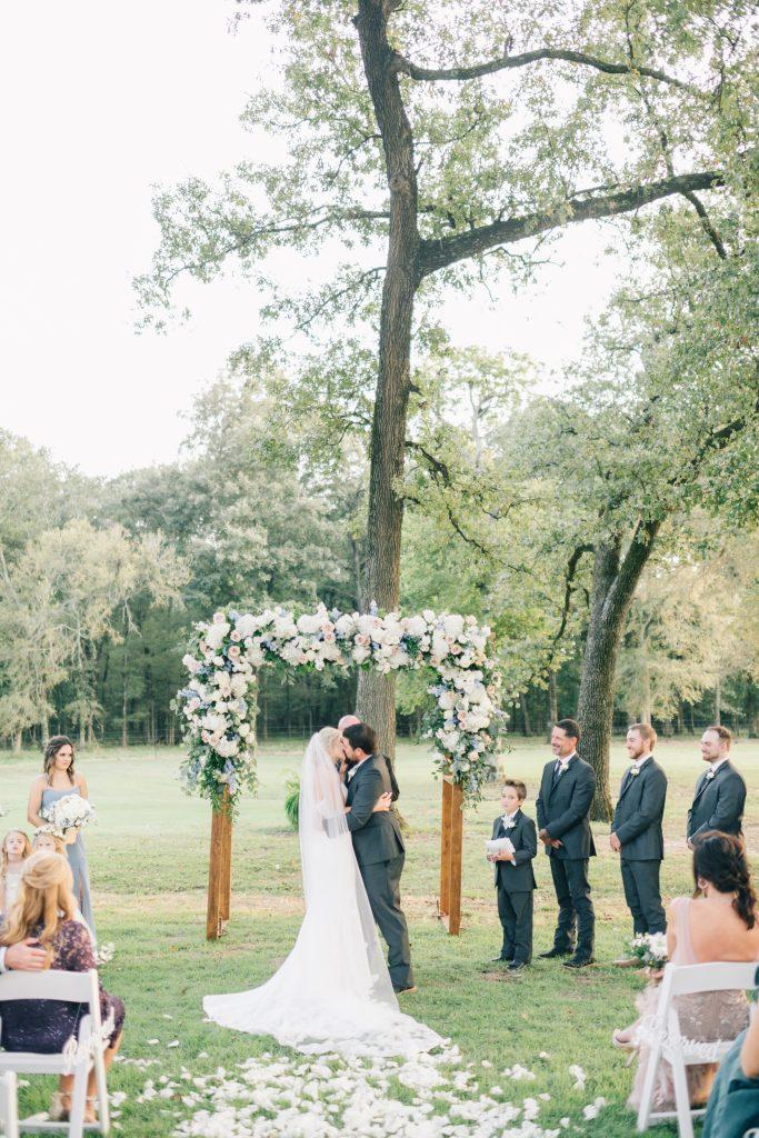 Ivory & Gold Wedding - Outdoor Tent Wedding - McKinney, Texas, Elegant Outdoor Wedding Ceremony - Garden Wedding Ceremony - Wooded Wedding Ceremony - Each & Every Detail