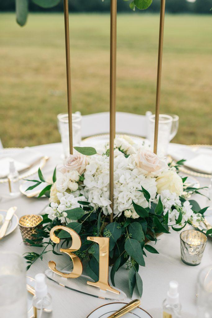 Ivory & Gold Wedding - Outdoor Tent Wedding - McKinney, Texas, Elegant Outdoor Wedding Reception - Wedding Reception Decor - Wedding Table Decor - Wedding Centerpiece