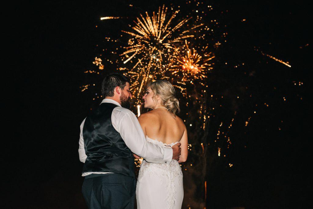 Ivory & Gold Wedding - Outdoor Tent Wedding - McKinney, Texas, Elegant Outdoor Wedding - Wedding Fireworks - Bride & Groom Fireworks Photo - Each & Every Detail