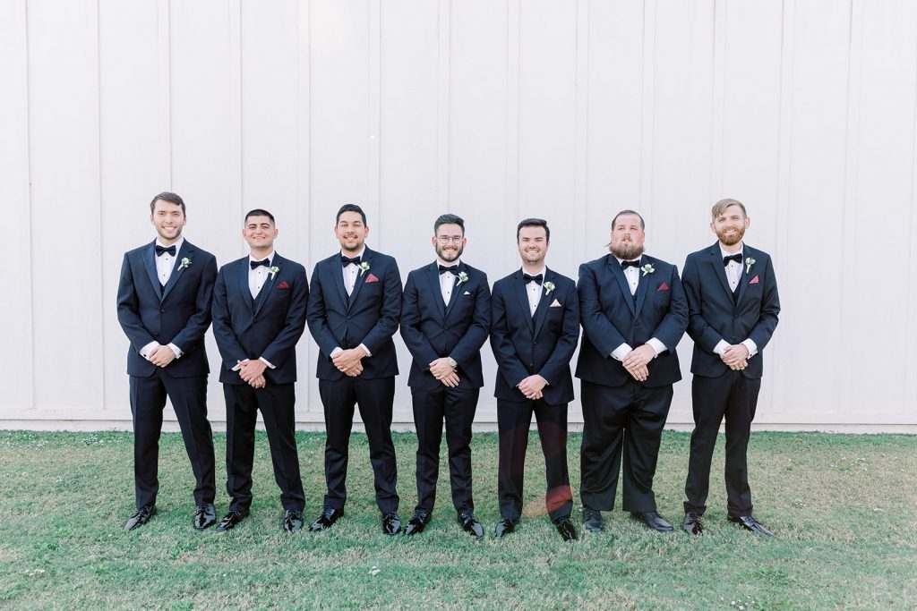 Groomsmen in Suits - Formal Wedding Photography
