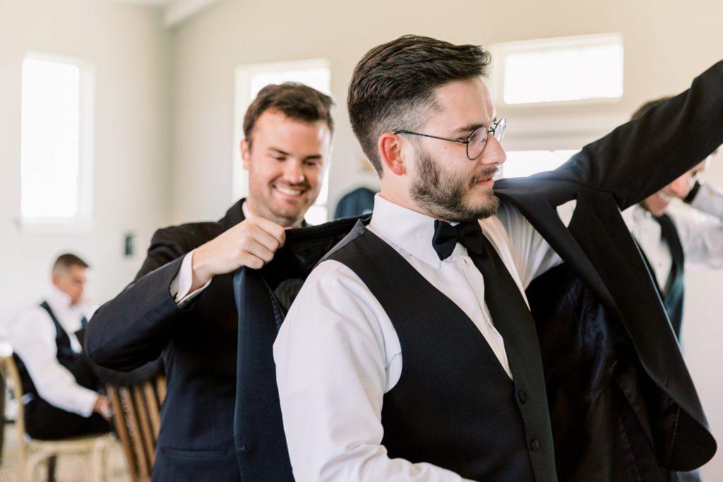 McKinney, Texas - Texas Outdoor Wedding - Each & Every Detail - Mauve & Burgundy Wedding - Lush Greenery Wedding - Getting Ready for the Wedding - Groom Look