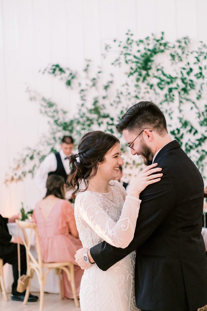 McKinney, Texas - Texas Outdoor Wedding - Each & Every Detail - Mauve & Burgundy Wedding - Lush Greenery Wedding - First Dance - Wedding Reception - The Grand Ivory