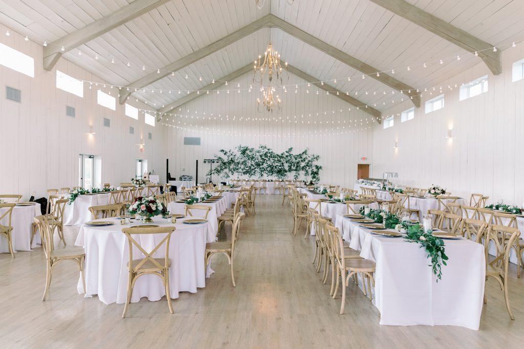 McKinney, Texas - Texas Outdoor Wedding - Each & Every Detail - Mauve & Burgundy Wedding - Lush Greenery Wedding - The Grand Ivory - Wedding Reception Decor - Greenery Wall