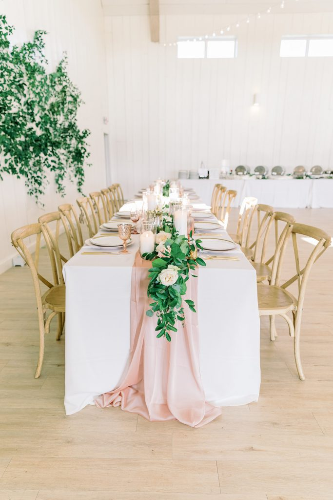 McKinney, Texas - Texas Outdoor Wedding - Each & Every Detail - Mauve & Burgundy Wedding - Lush Greenery Wedding - Head Table Decor - Romantic Head Table